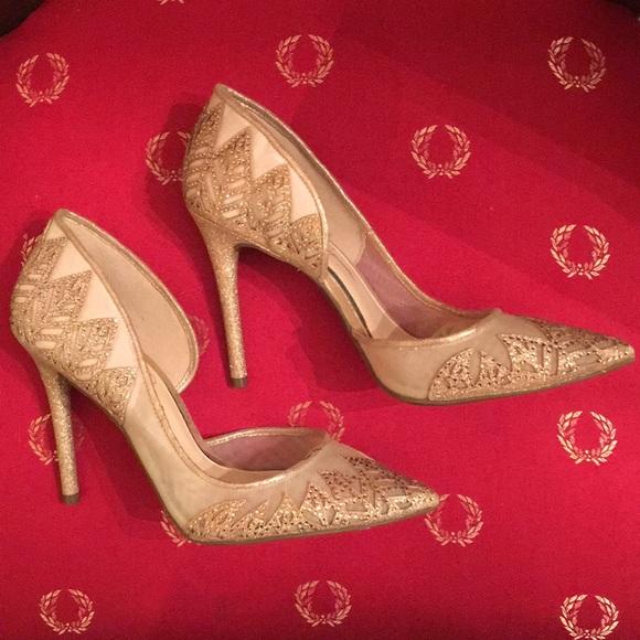 27b702494492 Jessica Simpson Shoes   Glittermesh High Heel Shoe   Poshmark
